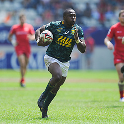 Siviwe Soyizwapi of South Africa during match between South Africa and Russia at the HSBC Paris Sevens, stage of the Rugby Sevens World Series at Stade Jean Bouin on June 9, 2018 in Paris, France. (Photo by Sandra Ruhaut/Icon Sport)