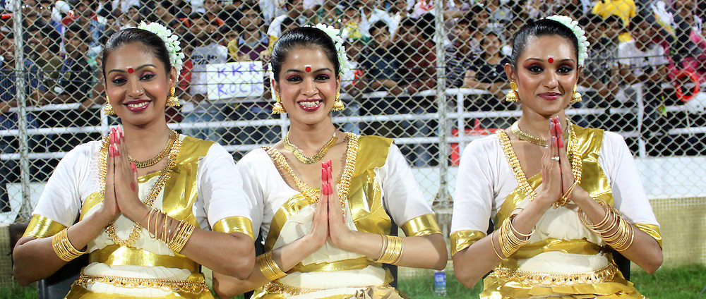 Cheer girls of Pune Warriors during match 65 of the Indian Premier League ( IPL ) Season 4 between the Pune Warriors and the Kolkata Knight Riders held at the Dr DY Patil Sports Academy, Mumbai India on the 19th May 2011..Photo by Sandeep Shetty/BCCI/SPORTZPICS..