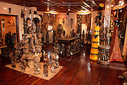 Art gallery stocked with West African Art. Dakar the capital of Senegal...Picture by Zute Lightfoot .+44(0)75145390425