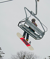 Thanks to a combination of natural snow and man-made snow skiers and riders will be getting some great early season conditions at Gunstock as they prepare for the upcoming holiday week after Christmas.  (Karen Bobotas/for the Laconia Daily Sun)