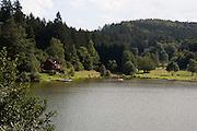 Marbachstausee, Mossautal, Odenwald, Hessen, Deutschland