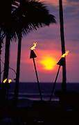 Tiki Torches, Hawaii, USA<br />