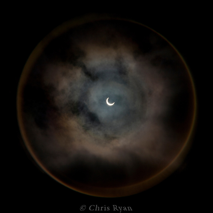Annular solar eclipse of 2012 seen from Big Sur, California