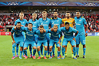 team of zenith  pictured during play offs champions league match between Standard of Liege and FC Zenit Saint Pertersburg 20 august 2014<br />