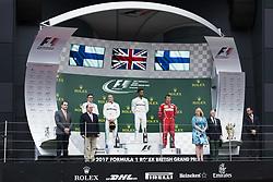 July 16, 2017 - Silverstone, Great Britain - Motorsports: FIA Formula One World Championship 2017, Grand Prix of Great Britain, .#77 Valtteri Bottas (FIN, Mercedes AMG Petronas F1 Team), #44 Lewis Hamilton (GBR, Mercedes AMG Petronas F1 Team), #7 Kimi Raikkonen (FIN, Scuderia Ferrari) (Credit Image: © Hoch Zwei via ZUMA Wire)