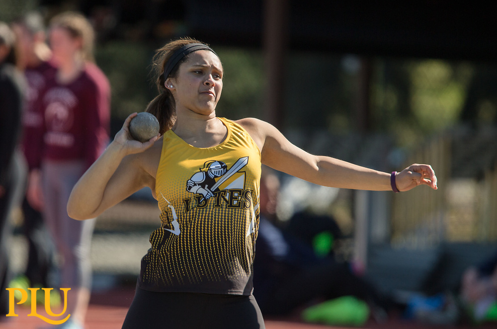 Track and field meet at PLU, Saturday, March 10, 2018. (Photo: John Froschauer/PLU)