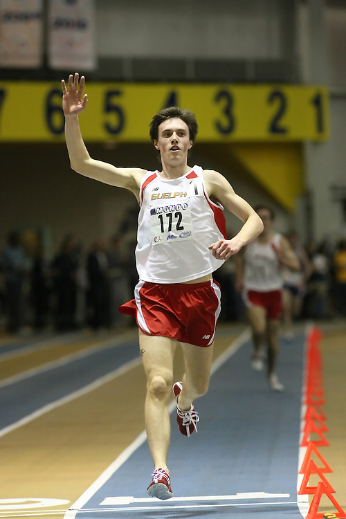 Windsor, Ontario ---13/03/09--- Kyle Boorsma of  the University of Guelph competes in the 3000m Final at the CIS track and field championships in Windsor, Ontario, March 13, 2009..Sean Burges Mundo Sport Images