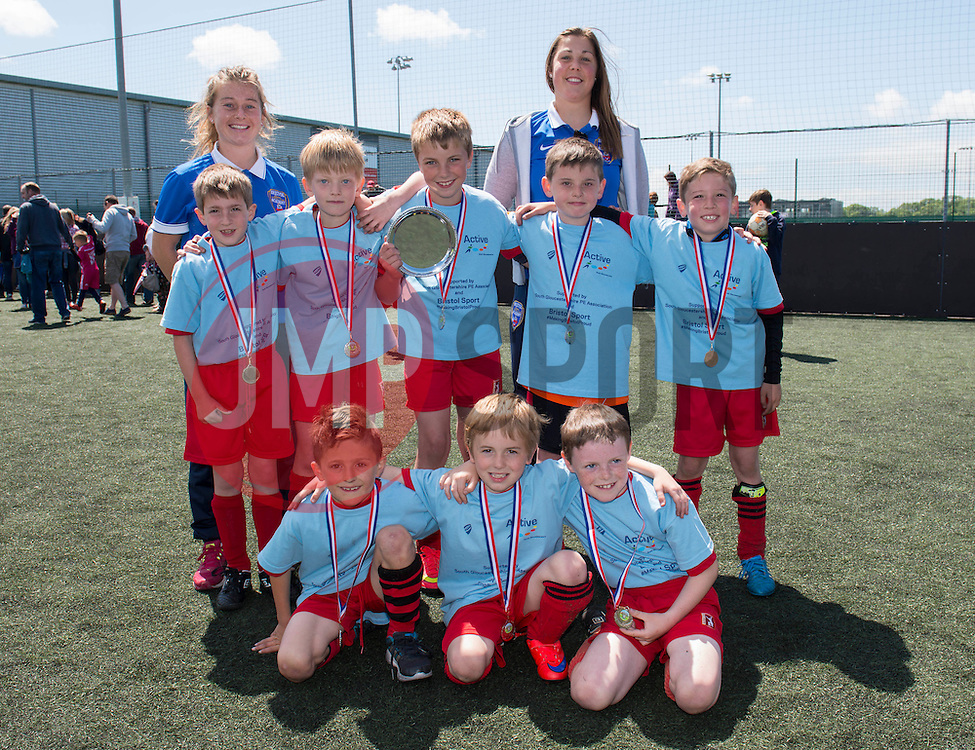 Team photo of the winners of Football at the Bristol Sport youth festival - Photo mandatory by-line: Dougie Allward/JMP - Mobile: 07966 386802 - 06/06/2015 - SPORT - Multi-Sport - Bristol - SGS Wise Campus - Bristol Sport Festival Of Youth Sport - Festival Of Youth