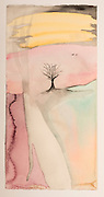 These fields of belief we create in winter (watercolor on rag paper) by Mark Hiebert (11 x 22.25, $425)
