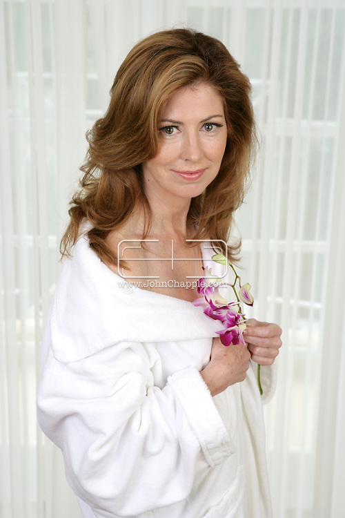"""28th September 2007, Beverly Hills, California. Desperate Housewives actress Dana Delany pictures at the Four Seasons Hotel in Beverly Hills. Dana, an Emmy award winning actress has recently joined the star cast of Desperate Housewives playing the roll of """"Katherine Mayfair"""". In 1991, People magazine voted her as one of the 50 Most Beautiful People in the world. PHOTO © JOHN CHAPPLE / REBEL IMAGES.310 570 9100.john@chapple.biz     www.chapple.biz"""
