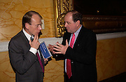 Andrew Marr and Jim Naughtie, Political Studies Association Awards 2004. Institute of Directors, Pall Mall. London SW1. 30 November 2004.  ONE TIME USE ONLY - DO NOT ARCHIVE  © Copyright Photograph by Dafydd Jones 66 Stockwell Park Rd. London SW9 0DA Tel 020 7733 0108 www.dafjones.com