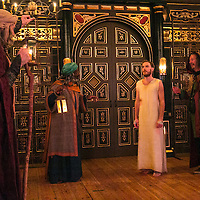 The Inn at Lydda by WOLFSON ;<br /> Directed by Andy Jordan ;<br /> Samuel Collings (as Jesus) ;<br /> Richard Bremmer (as Balthasar) ;<br /> Joseph Marcell (as Casper) ;<br /> Kevin Moore (as Melchior) ;<br /> Sam Wanamaker Playhouse, Globe Theatre ;<br /> 6 September 2016 ;<br /> Credit: Pete Jones/ArenaPal ;<br /> www.arenapal.com
