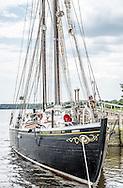 Schooner Sherman Zwicker at the Maine Maritime Museum in Bath,Maine.