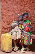 Pascalline Mahiraguha 6, Kellenia Izibyose 9, At their home in Kajevuba Village. Juru Sector. Bugesera district. Rwanda...© Zute Lightfoot / Water Aid.