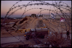 An Israeli military post near Morag, an Israeli settlement in the Gaza Strip. (Photo © Jock Fistick)