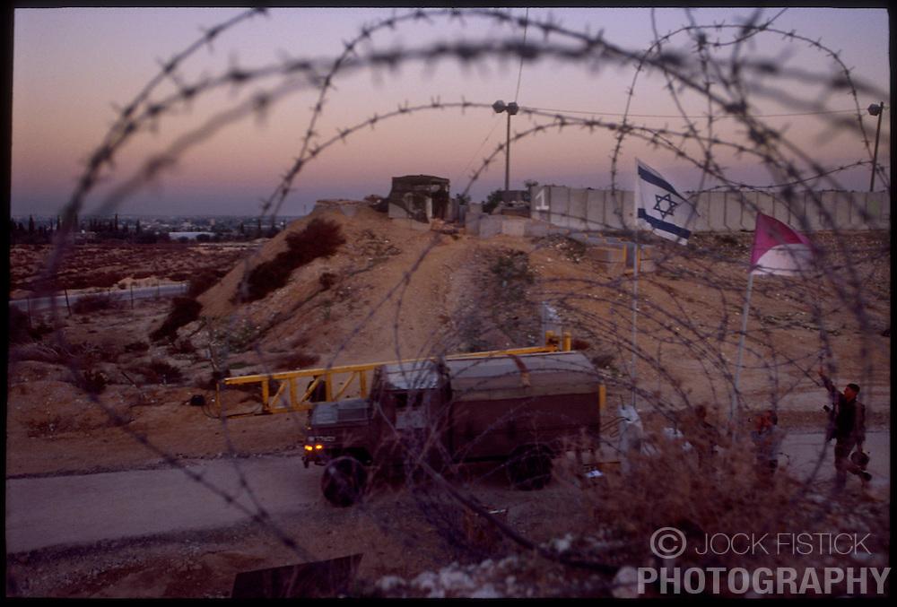 An Israeli military post near Morag, an Israeli settlement in the Gaza Strip. (Photo © Jock Fistick)