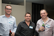 Stu Jackson, Bevan Kluske & Michael Mosel. RLB 40th Birthday, Hilton. Photo Shane Eecen Creative Light Studios