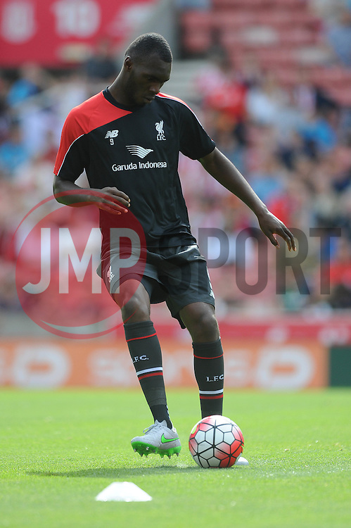 Christian Benteke of Liverpool - Mandatory byline: Dougie Allward/JMP - 07966386802 - 09/08/2015 - FOOTBALL - Britannia Stadium -Stoke-On-Trent,England - Stoke City v Liverpool - Barclays Premier League