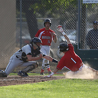 Leland #14 Joey Taddie gets the out vs Westmont in a BVAL Baseball Game at Westmont High School, Campbell CA on 3//23/2018. (Photograph by Bill Gerth/ for SVCN) (Leland 9 Westmont 8)