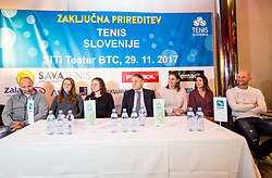 Slovenian FED Cup team prior to the Slovenian Tennis personality of the year 2017 annual awards presented by Slovene Tennis Association Tenis Slovenija, on November 29, 2017 in Siti Teater, Ljubljana, Slovenia. Photo by Vid Ponikvar / Sportida