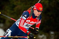 Evgenia Seledtsova of Russia competes during Women 7.5 km Sprint at day 1 of IBU Biathlon World Cup 2014/2015 Pokljuka, on December 18, 2014 in Rudno polje, Pokljuka, Slovenia. Photo by Vid Ponikvar / Sportida