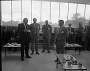 New Bottling plant for D.E.Williams..1975..19.06.1975..06.19.1975..19th June 1975..The Minister for Justice, Mr Patrick Cooney TD, officially opened the new one and a half million gallon per annum soft drink facility at Tullamore,Co Offaly. The new plant represents an investment of over a quarter million pounds by the Williams Group. It is hoped that this investment will create further employment for the area...Image of Mr W R Ralph,Managing Director, d E Williams Ltd., speaking at the official opening of the facility.