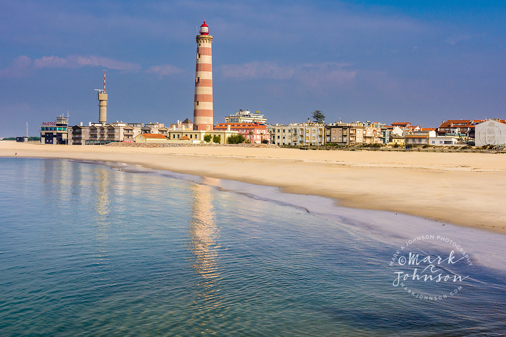 The Barra Lighthouse on Praia de Barra, Aveiro, Portugal