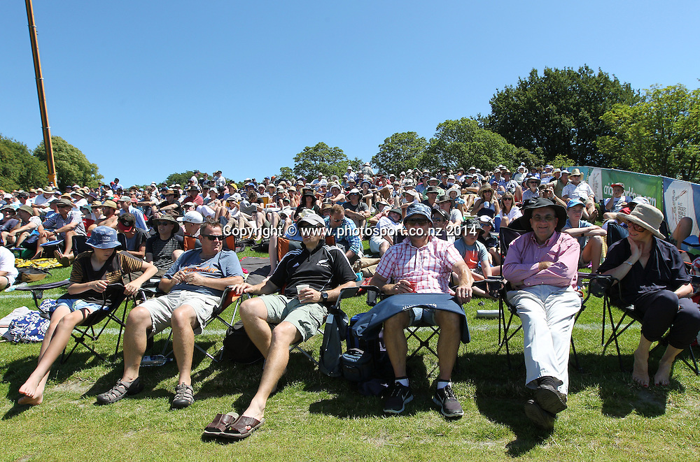 Crowd on Day 1 of the boxing Day Cricket Test Match  the Black Caps v Sri Lanka at Hagley Oval, Christchurch. 26 December 2014 Photo: Joseph Johnson / www.photosport.co.nz