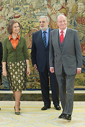 19.01.2011, Zarzuela Palace, Madrid, König Juan Carlos und Königin Sofia von Spanien empfangen Placido domingo und seine Frau Marta // King Juan Carlos of Spain and Queen Sofia of Spain receive Placido Domingo and his wife Marta Ornellas at Zarzuela Palace on January 19, 2011 in Madrid. EXPA Pictures © 2011, PhotoCredit: EXPA/ Alterphotos/ Cebolla +++++ ATTENTION - OUT OF SPAIN/ESP +++++
