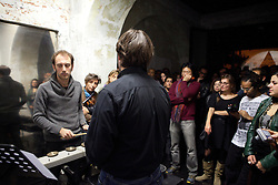 Tristan Perich live performance at Motelsalieri in Rome. Curated by Giorgio Mortari , Dissonanze and Gianluca Marziani