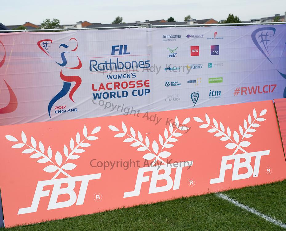 2017 FIL Rathbones Women's Lacrosse World Cup, at Surrey Sports Park, Guildford, Surrey, UK, 18th July 2017.