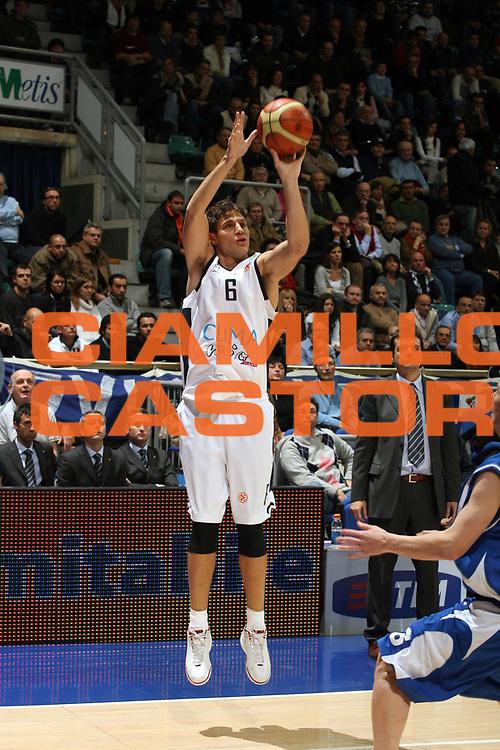 DESCRIZIONE : Bologna Eurolega 2006-07 Climamio Fortitudo Bologna Dynamo Mosca <br />GIOCATORE : Mancinelli<br />SQUADRA : Climamio Fortitudo Bologna<br />EVENTO : Eurolega 2006-2007 <br />GARA : Climamio Fortitudo Bologna Dynamo Mosca <br />DATA : 04/01/2007 <br />CATEGORIA : Tiro  <br />SPORT : Pallacanestro<br />AUTORE : Agenzia Ciamillo-Castoria/M.Marchi
