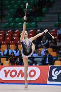 Maria Titova  atleta della Società Moderna Legnano durante la seconda prova del Campionato Italiano di Ginnastica Ritmica.<br /> La gara si è svolta a Desio il 31 ottobre 2015.<br /> Maria è una ginnasta di origini russe nata il 19 agosto 1997.