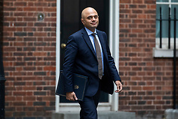 © Licensed to London News Pictures. 12/06/2018. London, UK. Home Secretary Sajid Javid on Downing Street before the Cabinet meeting. Photo credit: Rob Pinney/LNP
