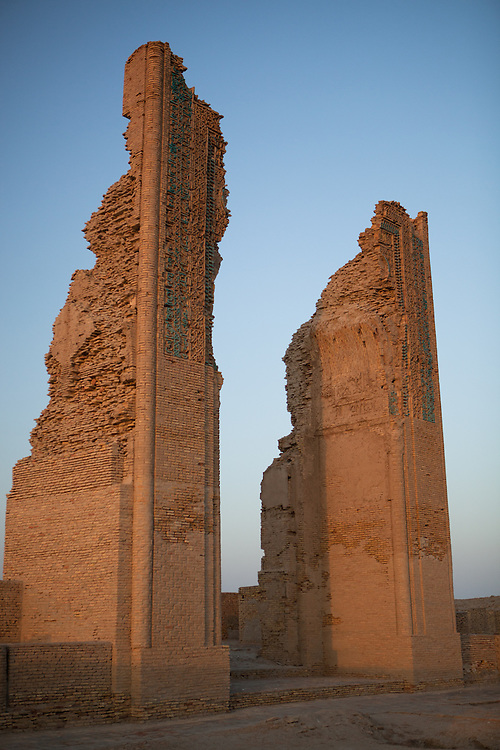 The remains of the portal entrance to a mosque in Dekhistan, Turkmenistan