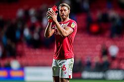 Nathan Baker of Bristol City applauds the fans after the final whistle  - Mandatory by-line: Ryan Hiscott/JMP - 28/09/2018 - FOOTBALL - Ashton Gate Stadium - Bristol, England - Bristol City v Aston Villa - Sky Bet Championship