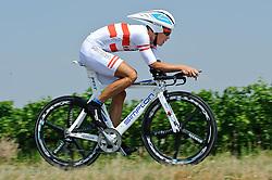 07.07.2012, Podersdorf, AUT, 64. Oesterreich Rundfahrt, 7. Etappe, EZF Podersdorf, im Bild Riccardo Zoidl (AUT, RC ARBOe Wels Gourmetfein) // RC ARBOe Wels Gourmetfein driver Riccardo Zoidl of Austria  during the 64rd Tour of Austria, Stage 7, Time Trial in Podersdorf, Austria on 2012/07/07. EXPA Pictures © 2012, PhotoCredit: EXPA/ S. Zangrando