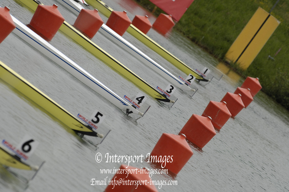 Munich, GERMANY, 2006, Start AreaFISA, Rowing, World Cup,  on the Olympic Regatta Course, Munich, Fri. 26.05.2006. © Peter Spurrier/Intersport-images.com,  / Mobile +44 [0] 7973 819 551 / email images@intersport-images.com.[Mandatory Credit, Peter Spurier/ Intersport Images] Rowing Course, Olympic Regatta Rowing Course, Munich, GERMANY