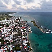 Vue d'ensemble de la commune de St François en Guadeloupe