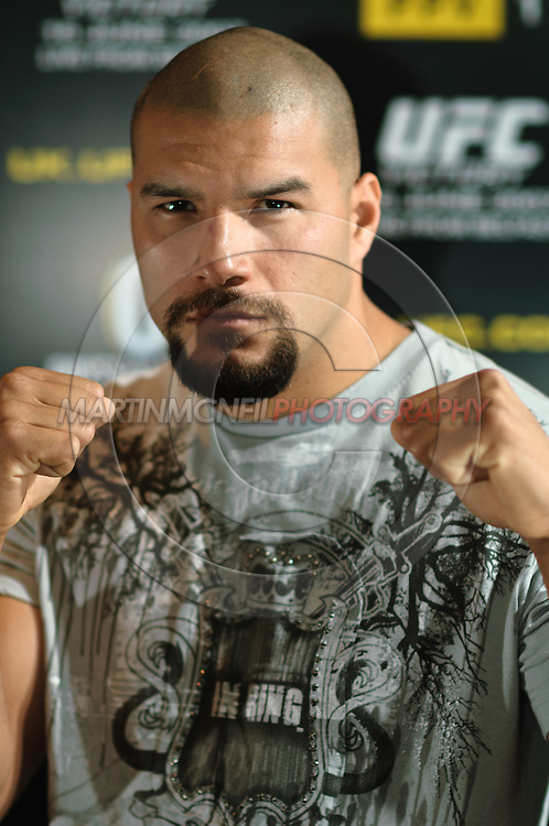 "A portrait of mixed martial arts athlete Hector ""Sick Dog"" Ramirez"