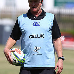 DURBAN, SOUTH AFRICA - JANUARY 19: Dick Muir as an attack and backline consultant of the Cell C Sharks during the Cell C Sharks training session at Growthpoint Kings Park on January 19, 2018 in Durban, South Africa. (Photo by Steve Haag/Gallo Images)