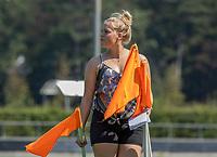 BLOEMENDAAL   -  assistent manager Kim van Leeuwen (Bldaal) . oefenwedstrijd dames Bloemendaal-Victoria, te voorbereiding seizoen 2020-2021.   COPYRIGHT KOEN SUYK