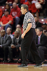 25 February 2015:  Rick Hartzell  during an NCAA MVC (Missouri Valley Conference) men's basketball game between the Southern Illinois Salukis and the Illinois State Redbirds at Redbird Arena in Normal Illinois