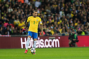 Brazil (2) Dani Alves during the International Friendly match between England and Brazil at Wembley Stadium, London, England on 14 November 2017. Photo by Sebastian Frej.