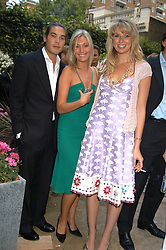 IAIN RUSSELL,  MISS OLIVIA BUCKINGHAM and ALEX FINLAY at the Tatler Summer Party in association with Moschino at Home House, 20 Portman Square, London W1 on 29th June 2005.<br />