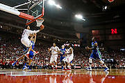 November 8, 2013: Shavon Shields (31) of the Nebraska Cornhuskers with a reversal on a layup against the Florida Gulf Coast Eagles at the Pinnacle Bank Areana, Lincoln, NE. Nebraska defeated Florida Gulf Coast 79 to 55.