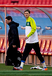 Milivoje Novakovic of Slovenia warm up during training session at Ellis Park on June 17, 2010 in Johannesburg, South Africa. Slovenia will play their next FIFA World Cup Group C match against USA at Ellis Park in on Friday June 18, 2010, in Johannesburg, South Africa. (Photo by Vid Ponikvar / Sportida)