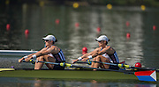 "Rio de Janeiro. BRAZIL.  USA W2X. Bow. Meghan . O'LEARY, and Ellen TOMEK.<br />  2016 Olympic Rowing Regatta. Lagoa Stadium,<br /> Copacabana,  ""Olympic Summer Games""<br /> Rodrigo de Freitas Lagoon, Lagoa.   Tuesday  09/08/2016 <br /> <br /> [Mandatory Credit; Peter SPURRIER/Intersport Images]"