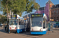 Trams loading outside the Central Train Station.