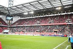 05.12.2015, Rhein Energie Stadion, Koeln, GER, 1. FBL, 1. FC Koeln vs FC Augsburg, 15. Runde, im Bild vl. Fans vor dem Spiel, Banner, Nein zu Montagsspielen, pro 15:30, Fuer fangerechte anstoßzeiten // during the German Bundesliga 15th round match between 1. FC Cologne and FC Augsburg at the Rhein Energie Stadion in Koeln, Germany on 2015/12/05. EXPA Pictures © 2015, PhotoCredit: EXPA/ Eibner-Pressefoto/ Horn<br /> <br /> *****ATTENTION - OUT of GER*****